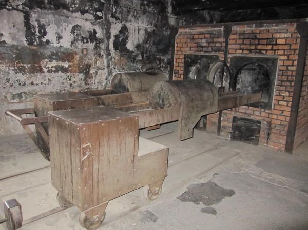 Inne i krematoriet, Auschwitz I.
