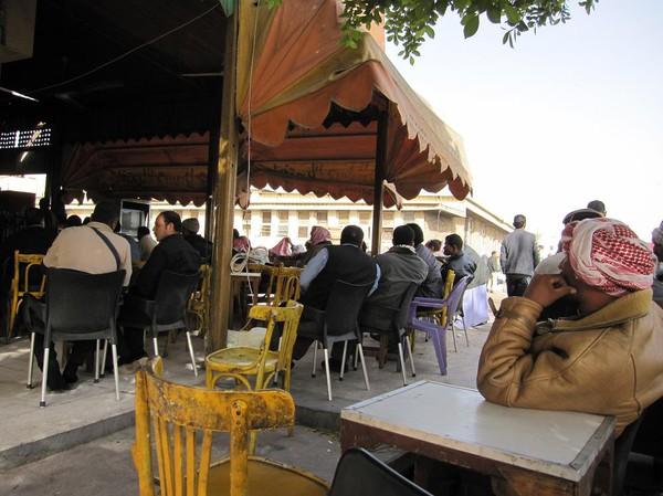 Lunch i staden Nuweiba, Egypten.
