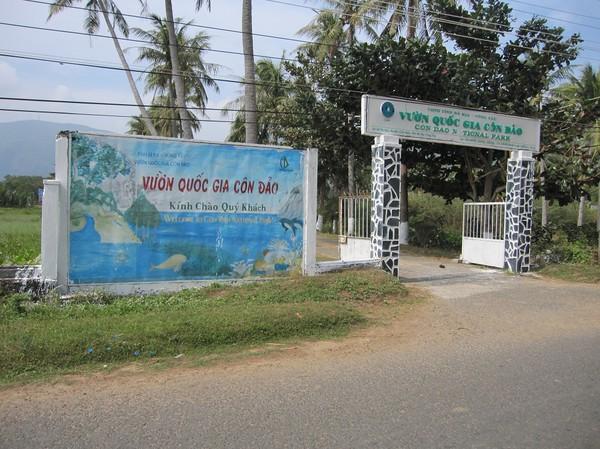 Entrén till Con Dao National Park headquarter.