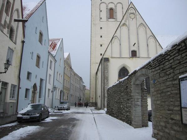 Vintergata, gamla staden Tallinn.