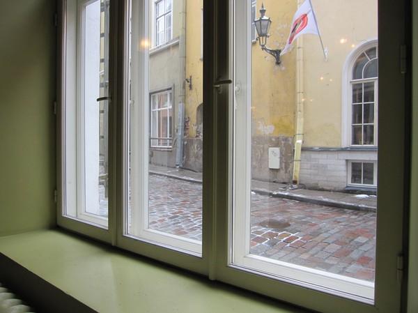 Utsikt inifrån Kompressor, gamla staden Tallinn.