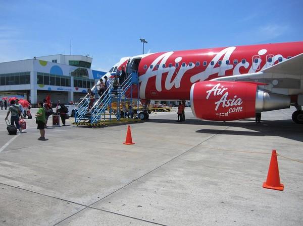 Med AirAsia på Davao international airport.
