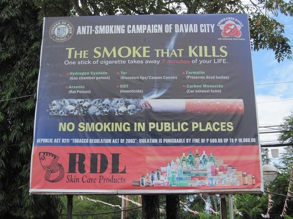 Davao city apropå rökning. En del saker är rätt roliga som den med råttgiftet!