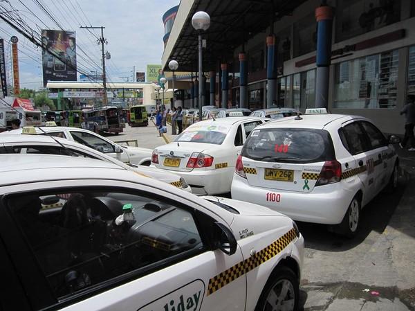 Transportkaos utanför Gaisano mall, Davao.