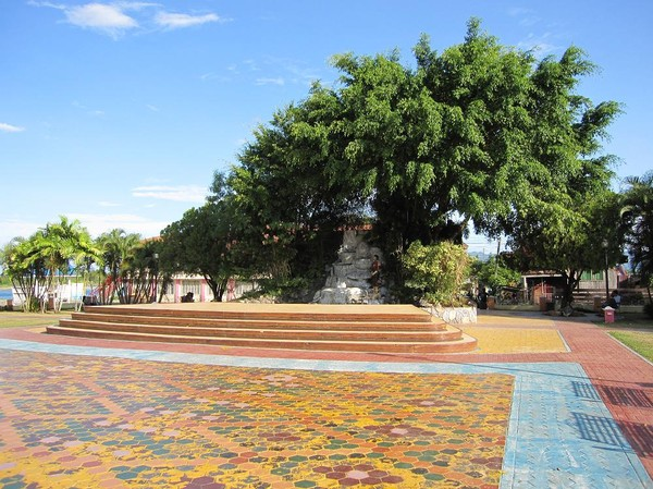 Town Plaza, Cateel.