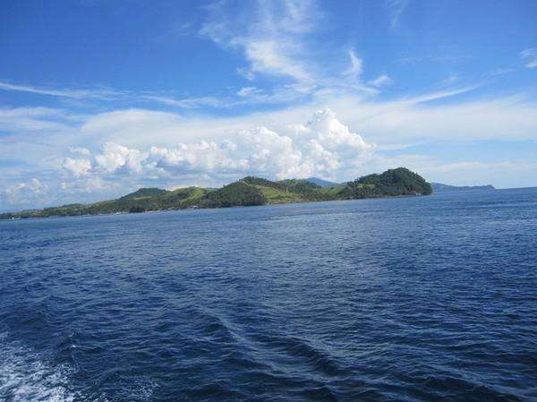 Mindanaos nordligaste punkt, på färjan till San Ricardo, Leyte.