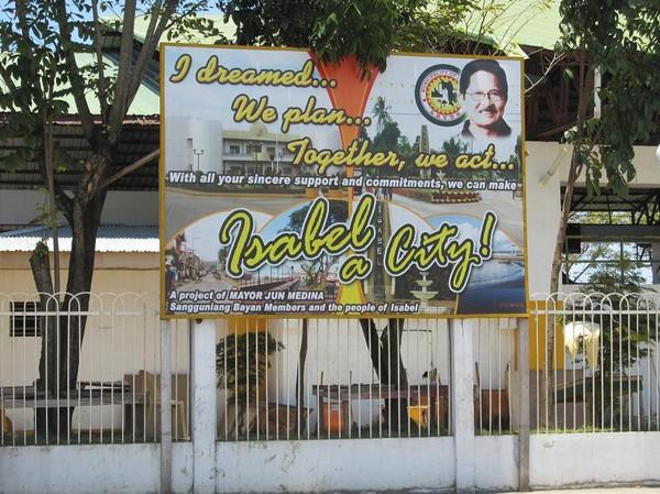Borgmästare Jun's visdomsord, Isabel, Leyte.