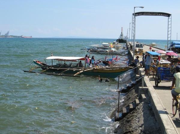 Hamnen i Isabel, Leyte.