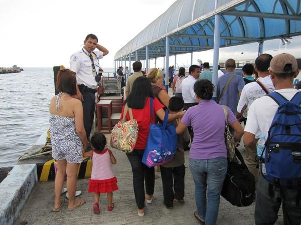 Hamnen i Ormoc. Båtresan mellan Ormoc city och Cebu city.