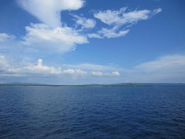 Camotes islands i bakgrunden. Båtresan mellan Ormoc city och Cebu city.