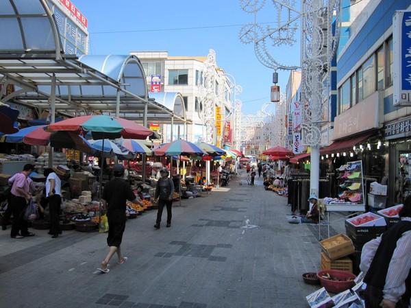 Detta måste vara den renaste marknaden jag sett i Asien.