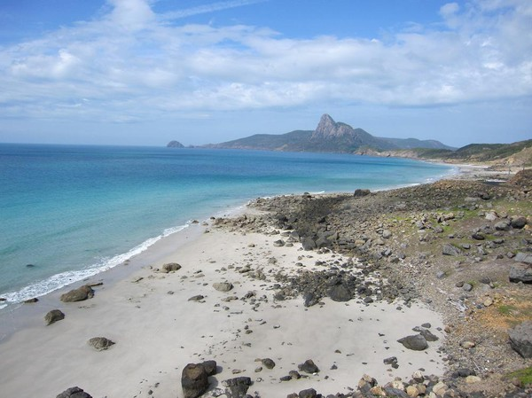 Bai Nhat beach på Con Son island.