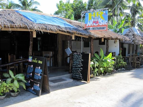 HR Music Bar & Restaurant, från utsidan, Santa Fe, Bantayan island.