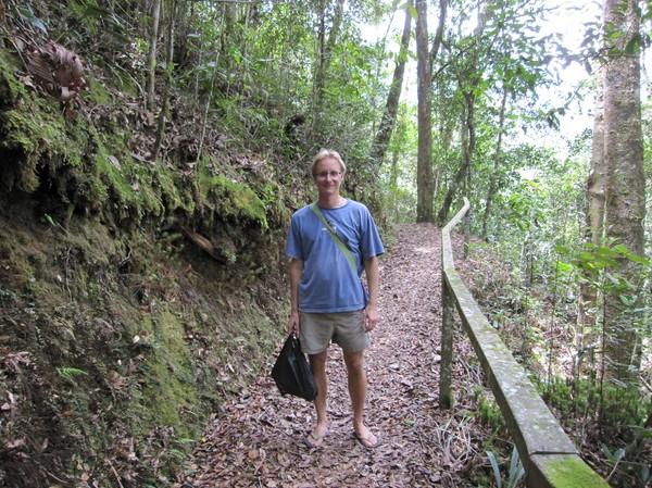 Stefan, Liwagu trail. Rätt mycket uppför, men underbart klimat!