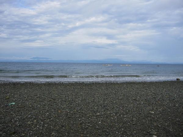 En ej så inbjudande strand vid Toledo på Cebu's västkust.