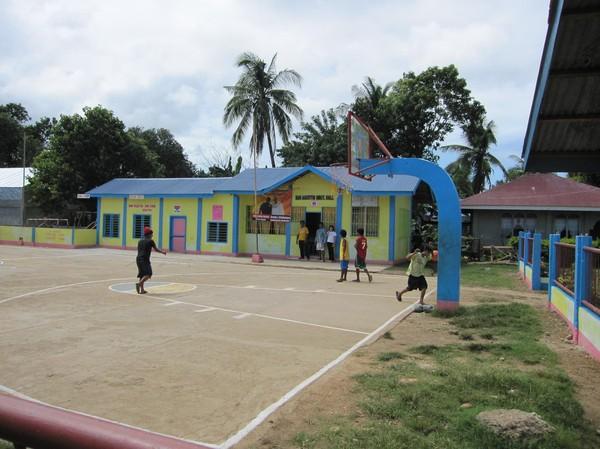 Skola i barangay San Augustin, norra Bantayan island.