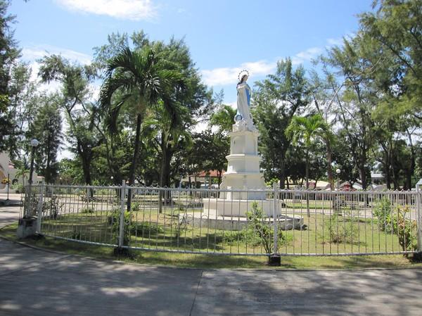 Jesus staty Madridejos, Bantayan island.