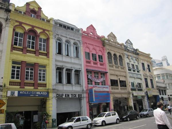 Koloniala byggnader i chinatown, Kuala Lumpur.
