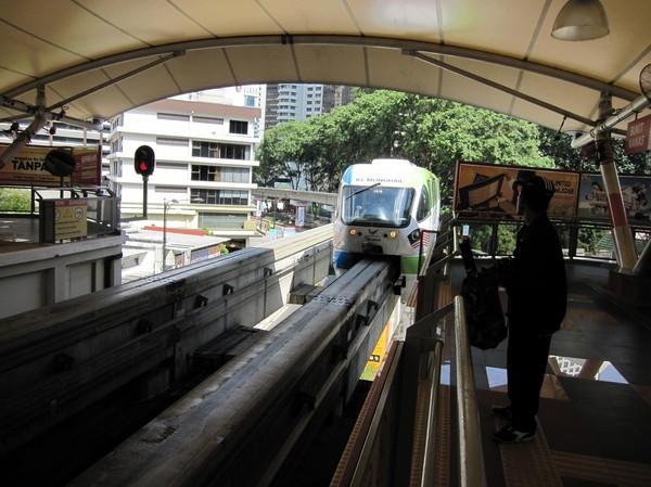 Så här ser monorailtågen ut i KL.