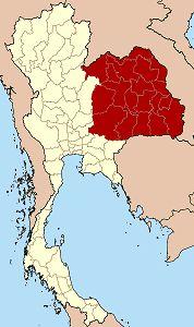 Isaan, nordöstra Thailand.