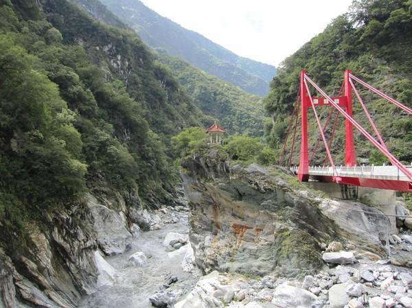 Vandringen genom Taroko Gorge.