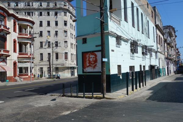 Porträtt av Che Guevara, Centro Habana, Havanna.