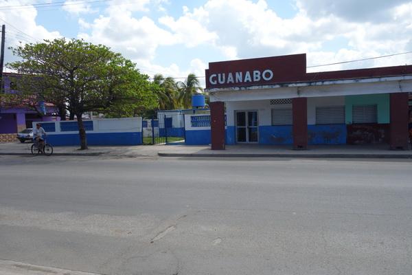 Busshållplats Guanabo, Playas del Este, Havanna.