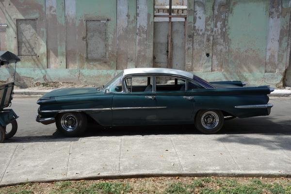 Amerikansk bil, Centro Habana, Havanna.