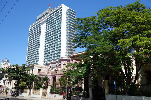 Hotel Habana Libre i modernistisk stil. Övertogs av Castro's revolutionära styrkor bara nio månader efter öppnandet, Vedado, Havanna.