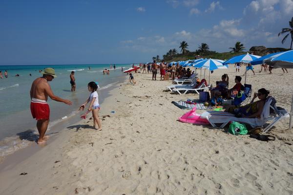 Stranden vid Boca Ciega, Playas del Este, Havanna.