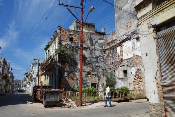 Fasadmålning Centro Habana, Havanna.