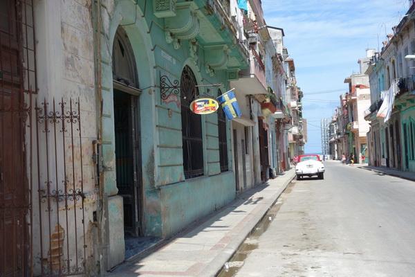 Casa Miglis. Jag tror detta är den enda svenska restaurangen i Havanna! Centro Habana, Havanna.