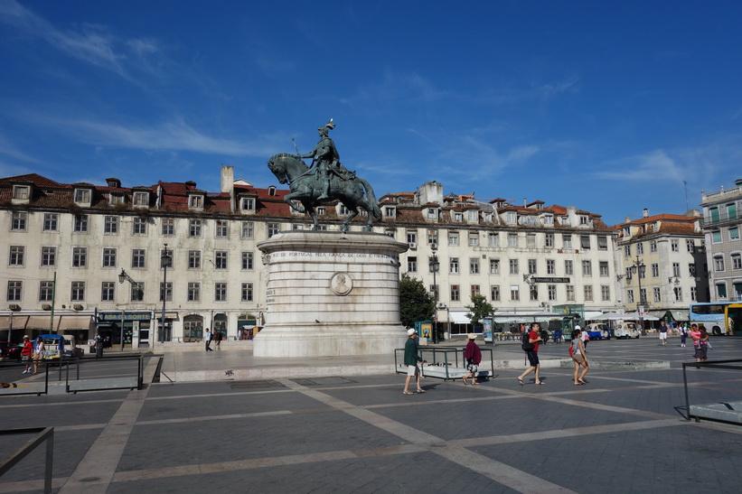 Praça da Figueira, Lissabon.