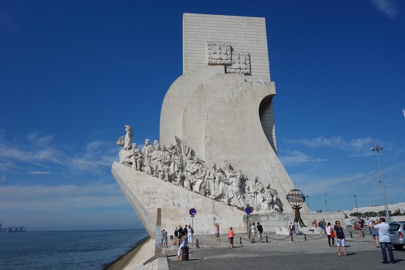 Padrao Dos Descobrimentos, monumentet som hyllar Portugals upptäckarera, Belém, Lissabon.