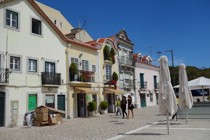 Gatuscen i centrala Belém, Lissabon.