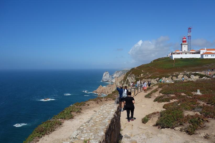 Cabo da Roca, den västligaste punkten på det europeiska fastlandet, Portugal.