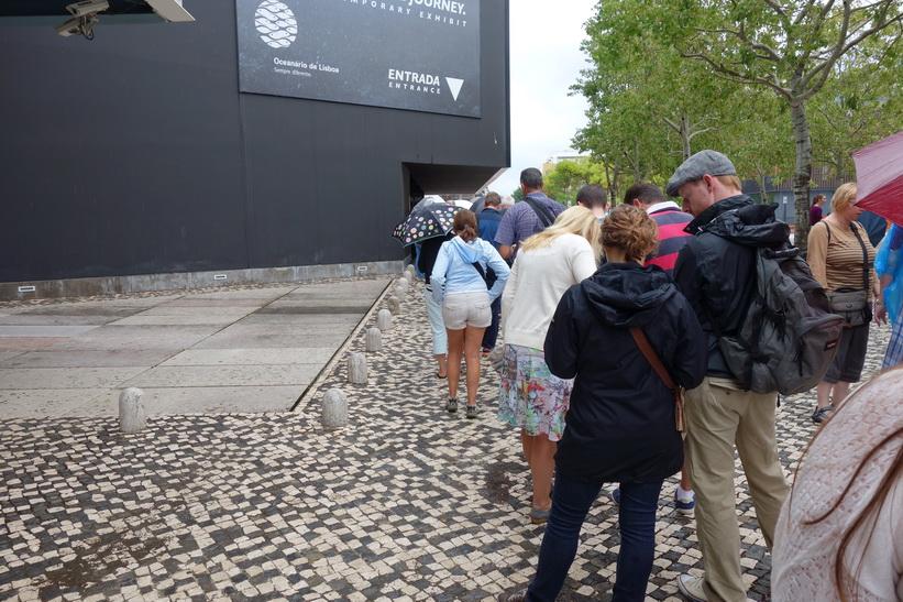 Kön in till Oceanário de Lisboa, Parque das Nações, Lissabon.