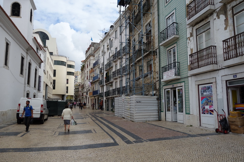 Arkitektur vid Praça Martim Moniz, Lissabon.