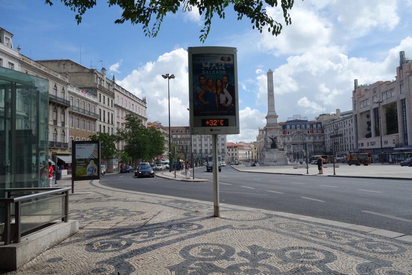 Praça dos Restauradores, Lissabon.