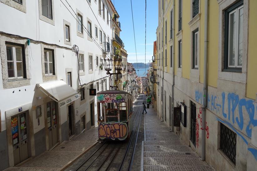 Elevador da Bica, Lissabon.