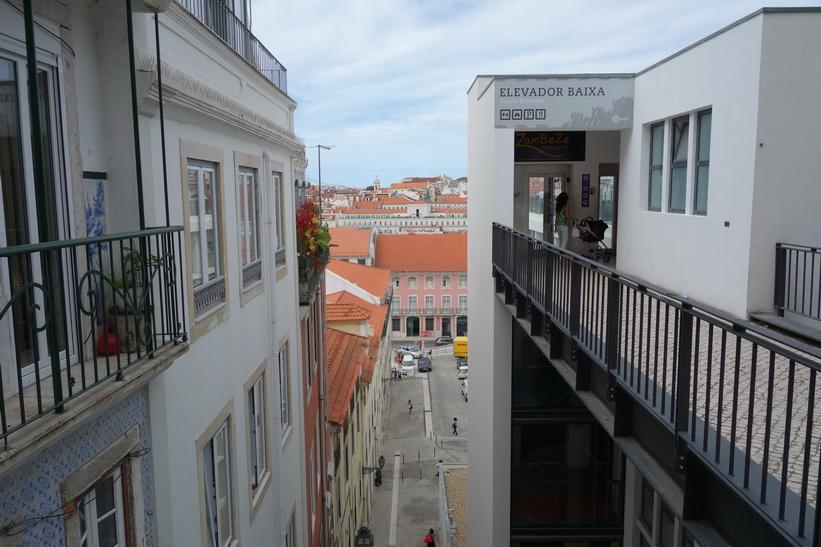 Elevador Baixa som jag passerade på väg upp till Castelo de São Jorge, Lissabon.