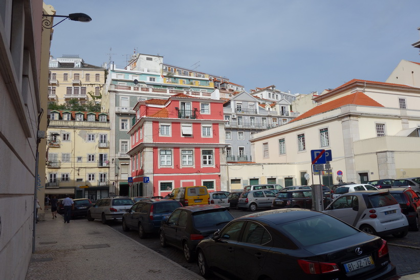 I närheten av Praça Dom Luís I, Lissabon.