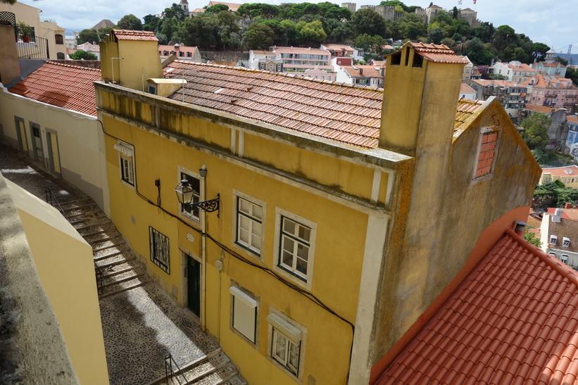 Utsiktsplats Miradouro da Graça, Lissabon.