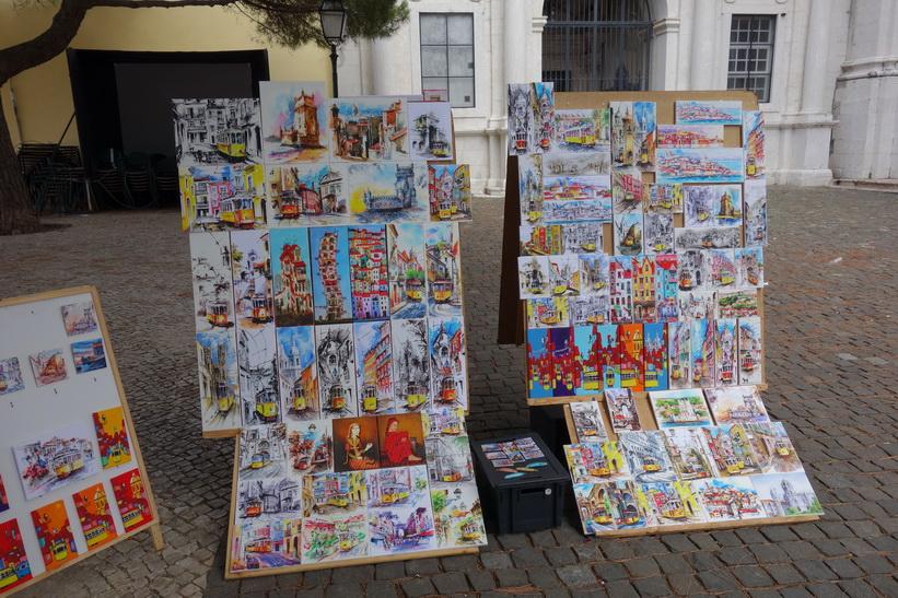 Konst på Largo da Graça, Lissabon.