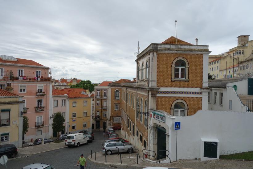 Vacker arkitektur vid Panteão Nacional, Lissabon.