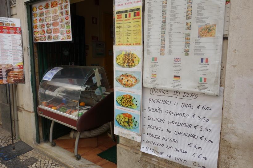 Entrén till en restaurang någonstans i Lissabon.