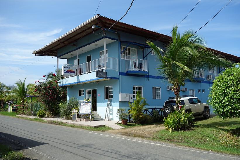 Vista Mar Hotel, mitt första boende i Bocas Town, Bocas del Toro.