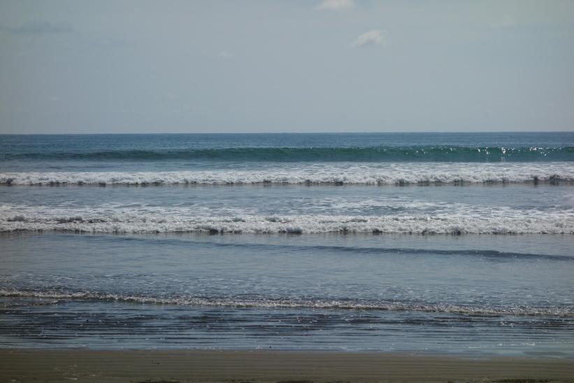 Stranden i Uvita. Riktigt trevligt att bada här.