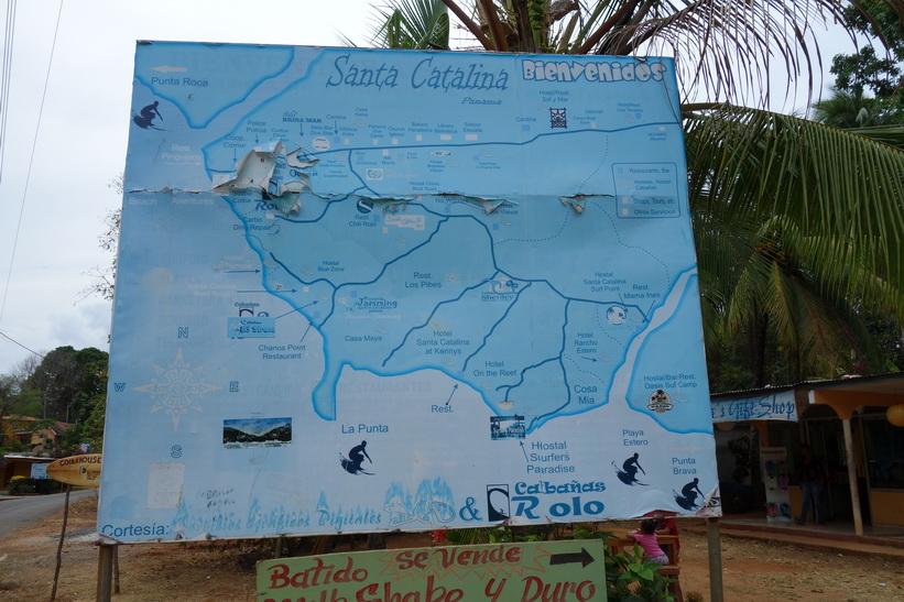 Karta över Santa Catalina i centrala Santa Catalina.