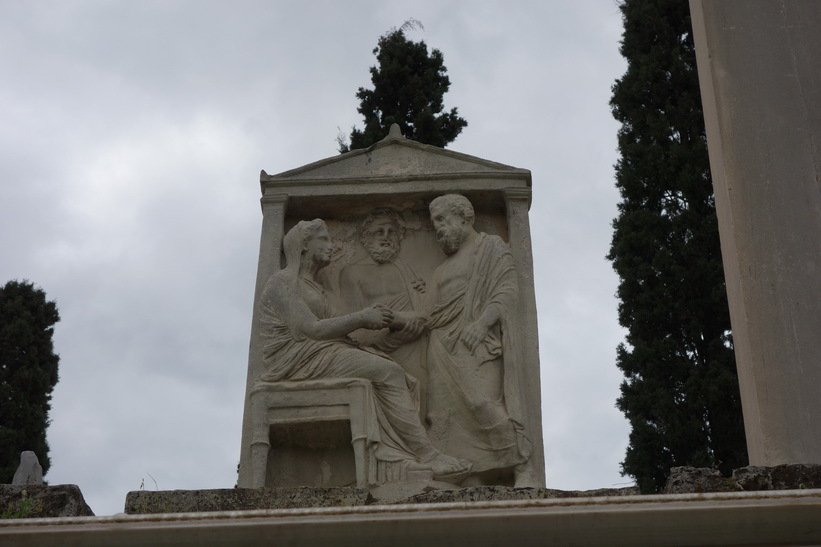 Fantastiskt vacker gravsten, Kerameikos, Aten.